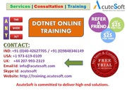 DOT NET Online Training by AcuteSoft with 10+ years SMEs.